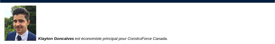 [photo] Klayton Goncalves est économiste principal pour ConstruForce Canada.