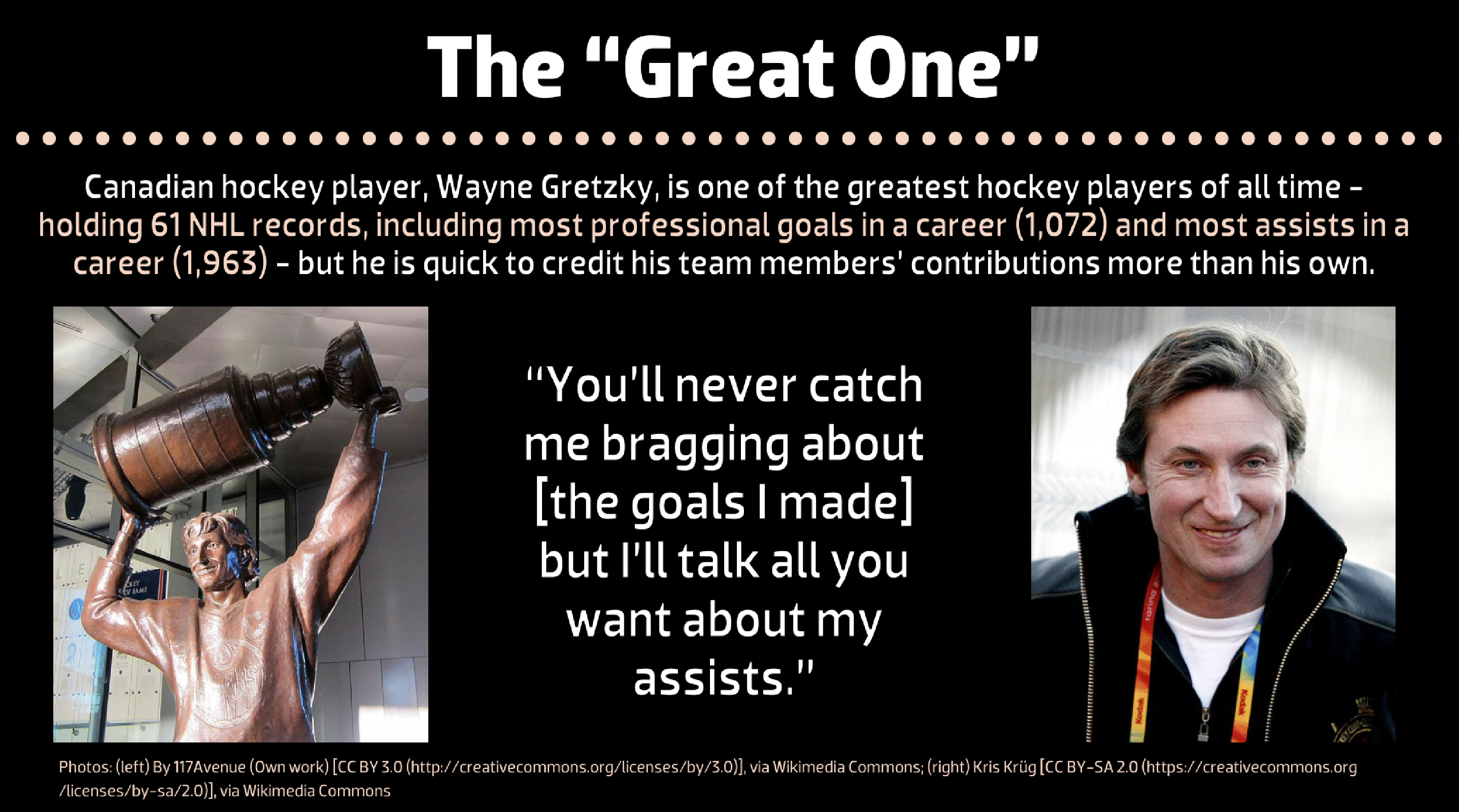 "Wayne Gretzky, the ""Great One"""