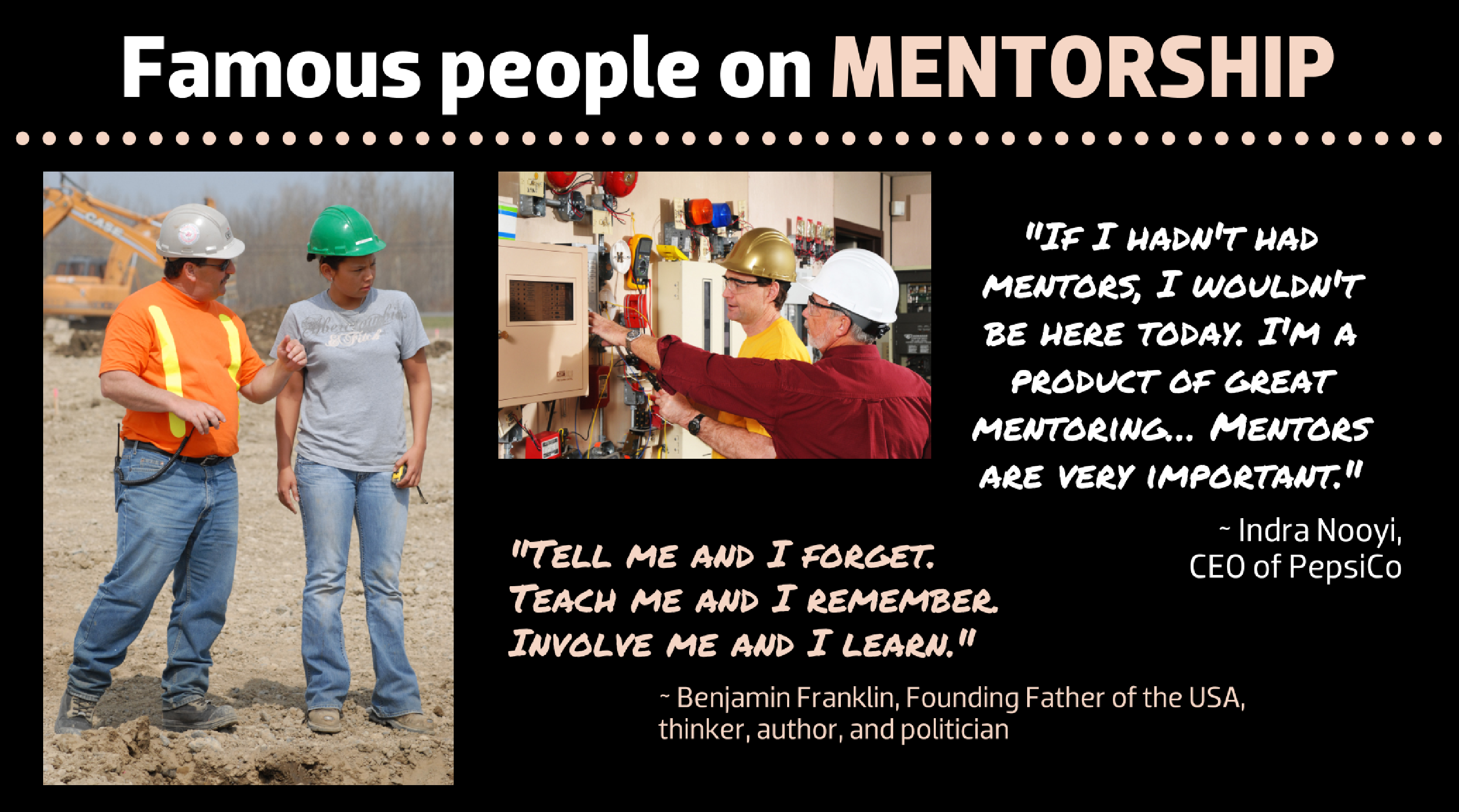 Famous people on mentorship