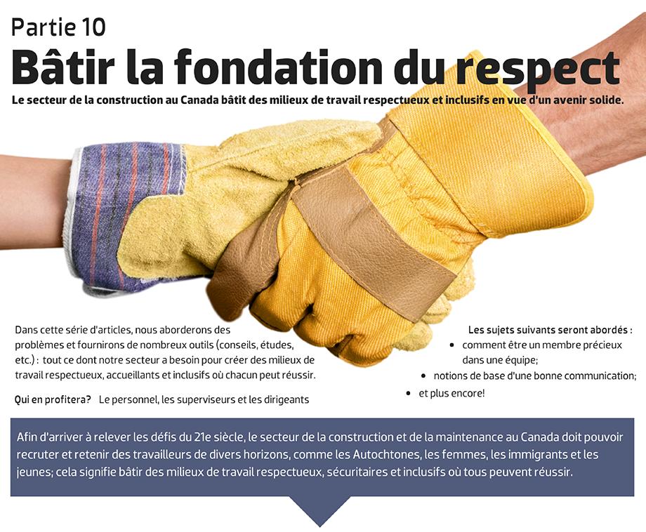 Le secteur de la construction au Canada bâtit des milieux de travail respectueux et inclusifs en vue d'un avenir solide.