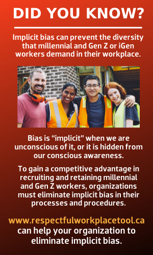 Implicit bias can prevent diversity in the workplace. www.respectfulworkplacetool.ca can help your construction organizatin to eliminate implicity bias.