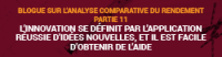 Blogue sur l'analyse comparative du rendement - Partie 11